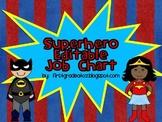 Superhero Job Chart Editable