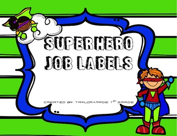 Superhero Job Labels