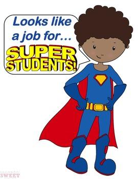Superhero Job Poster