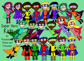 Superhero Kids clipart