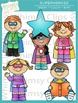 Little Shorties Superhero Kids Clip Art
