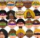 Superhero Kids Expressions Emotions Clip Art 20 Color Clip