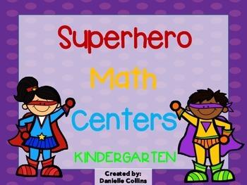 Superhero Kindergarten Math Pack (10 CCSS Centers)