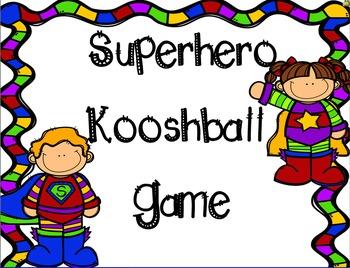 Superhero Kooshball SMARTboard Game