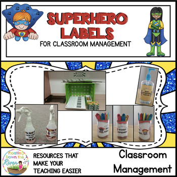 Superhero Labels for Music Stations, Sanitizer, Spray, and