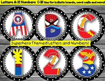 Superhero Letters and Numbers for Bulletin Boards, Word Wa