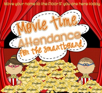 Superhero MOVIE TIME attendance for SMARTboard