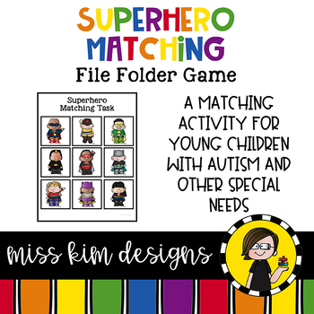 Superhero Matching Folder Game for Early Childhood Special