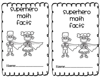 Superhero Math Facts