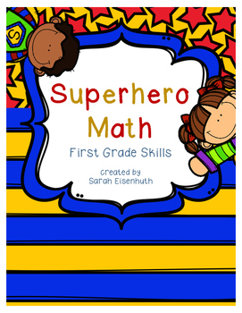 Superhero Math - First Grade Skills