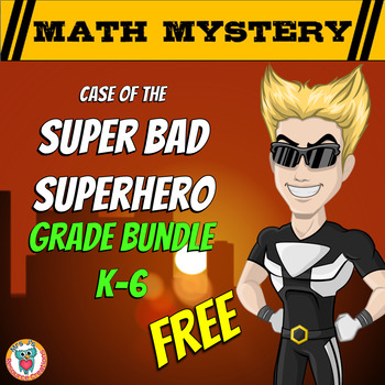 Math Mystery Activity: Case of the Super Bad Superhero (Di