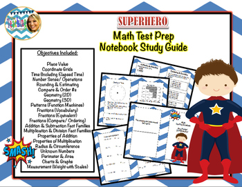 Superhero Math Test Prep Study Guide