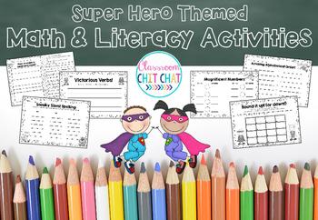 Superhero Math and Literacy Activities!