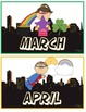 Superhero Months of the Year Cards