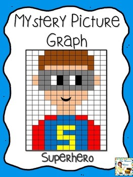 Superhero Mystery Picture Graphing Activity