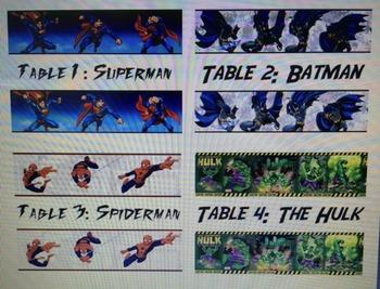 Superhero Name/Table Tags