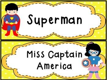 Superhero Names for Groupings