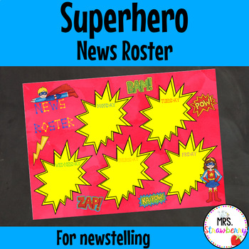 Superhero News Roster {Newstelling}