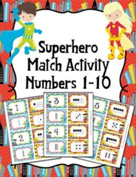 Superhero Number Match Activity