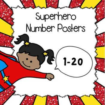 Superhero Number Posters (1-20)