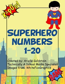 Superhero Numbers 1-20