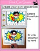 Sequencing Numbers and Letters Puzzles - Superhero Theme