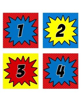 Superhero Numbers (Super Hero Theme)