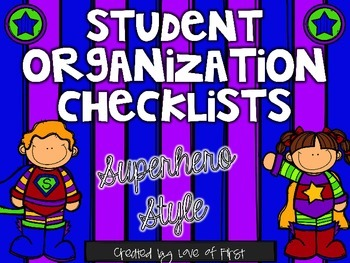 Superhero Organization Checklists
