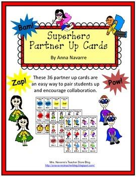 Superhero Partner Up Cards