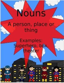 Superhero Parts of Speech Posters