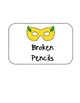 Superhero Pencil Signs