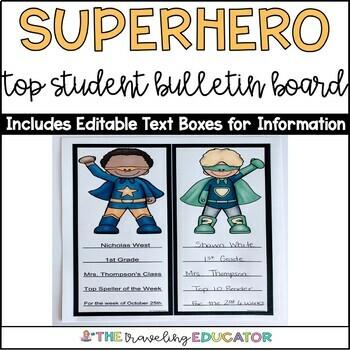 Reader (Top Ten) Bulletin Board with a Superhero Theme