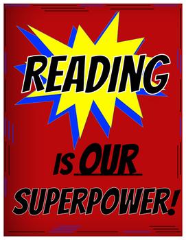 Superhero Reading Poster