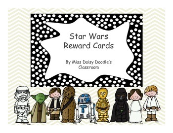 Star Wars Reward Cards