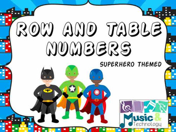 Superhero Row and Table Number Labels