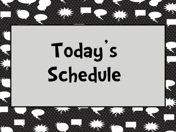 Superhero Daily Schedule (Editable)