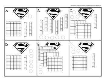Superhero Second Grade Place Value Set