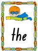 Superhero Sight Word Posters, Word Wall Cards and Flashcar