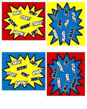 Superhero Signs (Super Hero Theme)