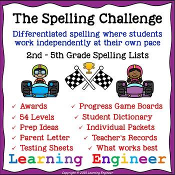 Spelling Activities and Spelling Homework (Spelling Lists)