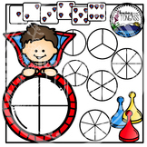 Superhero Spinner Games Clipart Bundle