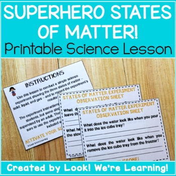 Superhero States of Matter for Second Graders
