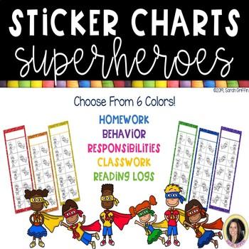 Superhero Sticker Charts