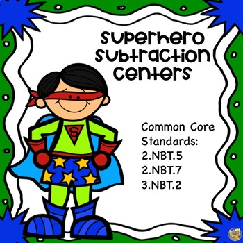 Subtraction Centers - 2 Digit with/without regrouping! Sup