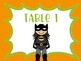 Superhero Table Number Signs