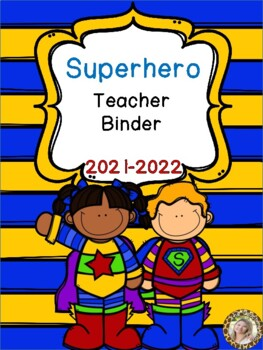 Superhero Teacher Binder {FREE yearly updates!}