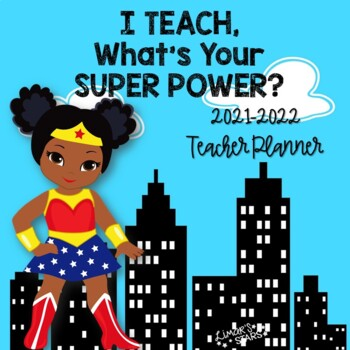 Superhero Teacher Planner