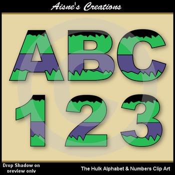 Superhero The Hulk Alphabet & Numbers