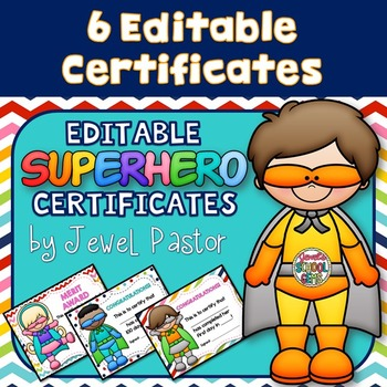 Superhero Theme Certificates ❤ Superhero Certificates