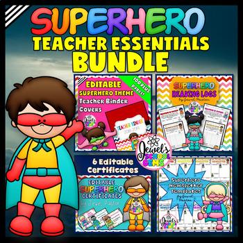 Superhero Theme Teacher Essentials BUNDLE